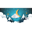night landscape - cartoon cloud vector image vector image