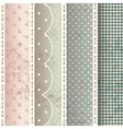 Pattern in shabby chic style vector image