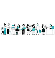 people store queue customer shopping market vector image vector image