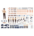 policewoman constructor set or animation kit vector image vector image