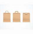 realistic detailed 3d paper bag set vector image vector image