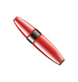 red tube with mascara vector image vector image