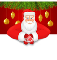 Santa Claus copy space red background