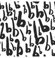 seamless pattern with calligraphy letters b vector image