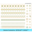 Set of geometric gold shapes vector image vector image