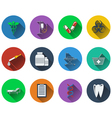 Set of medical icons in flat design vector image