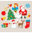 set of stickers Christmas vector image vector image
