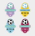 set soccer football badge vector image
