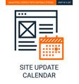 site update calendar simple outline vector image vector image
