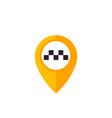 taxi pointer pin logo vector image vector image