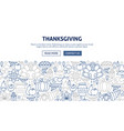 thanksgiving banner design vector image vector image
