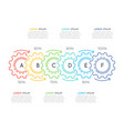 Thin line business infographic template with gears