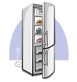two door refrigerator vector image vector image