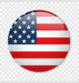 usa flag in form a glossy icon vector image vector image