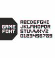 video game pixel font vector image vector image