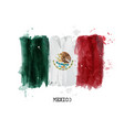 watercolor painting flag of mexico vector image vector image