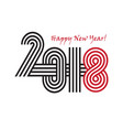 2018 happy new year trendy and minimalistic card vector image