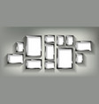 a set silver photo frames vector image vector image