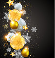 abstract christmas card vector image vector image