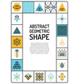abstract geometric card vector image vector image