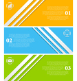 Abstract infographic tech banners vector image vector image