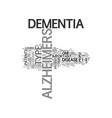 alzheimers cure text word cloud concept vector image vector image