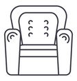 armchair line icon sign on vector image vector image