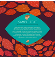 Autumn thanksgiving frame with copyspace vector image vector image