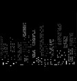 background with cityscape night lights vector image vector image