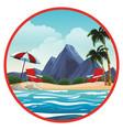 beautiful beachscape scenery vector image vector image