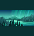 beautiful view with forest vector image vector image