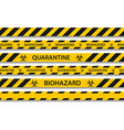 biohazard danger yellow black seamless tape vector image