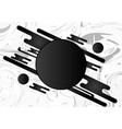 black and white geometric abstract background vector image vector image