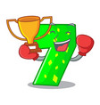 boxing winner number seven isolated on the mascot vector image vector image