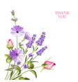 bunch of lavender flowers vector image vector image