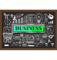Business on chalkboard vector image vector image