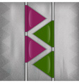 business triangles purple green vector image vector image