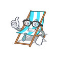 businessman beach chair character cartoon vector image
