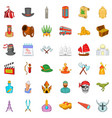calendar icons set cartoon style vector image vector image