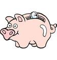 cartoon of a of a piggy bank vector image vector image