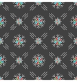 Christmas seamless pattern snowflakes Gray vector image vector image