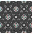 christmas seamless pattern snowflakes gray vector image vector image