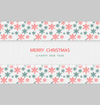 christmas snowflakes pattern on white wooden vector image vector image