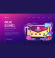 corporate website concept landing page vector image vector image