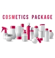 cosmetics packages border vector image vector image