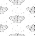cosmic seamless pattern with stars butterflies vector image