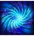 Cosmic swirl background vector image