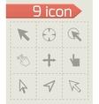 cursor icons set vector image vector image