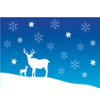 deer snow vector image