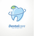 dental clinic logo design idea vector image